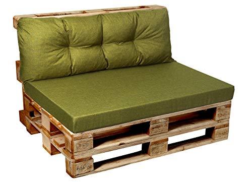 Cojines para palés de jardín, asiento, respaldo, esquina, juego de cojines para exterior e interior 120x80, 120x60, 120x50, 120x40 v1.