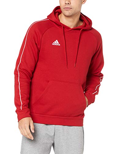 adidas Herren Core 18 Kapuzenpullover, rot (Power Red/White), L