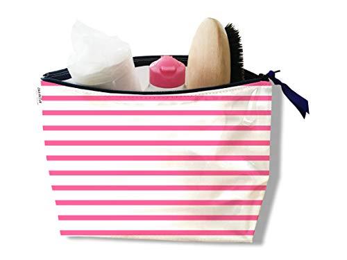 Trousse de toilette pour femme Motif marinière rose Réf. 2397-2016