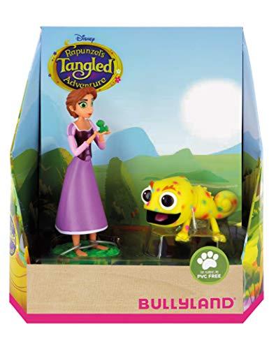 Bullyland 13462 - zestaw figurek do zabawy, Walt Disney Roszpunka i Pascal, starannie ręcznie malowane figurki, bez PCW, wspaniały prezent dla chłopców i dziewczynek do fantazyjnej zabawy