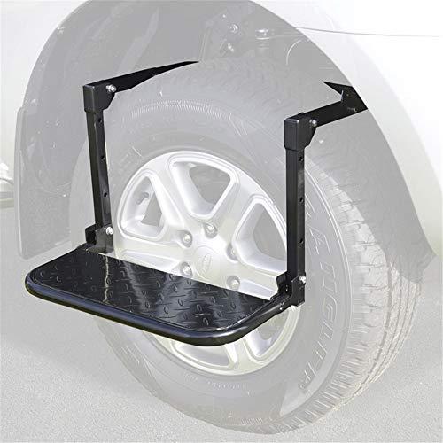 TRF Paso de los neumáticos, Ajustable Plegable Rueda del Coche de Neumáticos Escalera - Nominal 300 LB, Antideslizante de la Plataforma - Adecuado para Coches, Camiones, SUV y RV