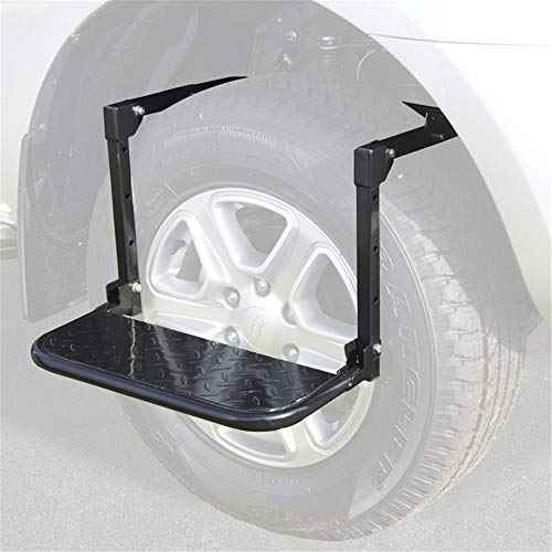Tire Step, Verstelbare Folding Wheel Autobanden Ladder - score 300 Lb, Non-Slip Platform - Geschikt voor auto, vrachtwagen, SUV & RV - Diameter Tot 13 In Wide