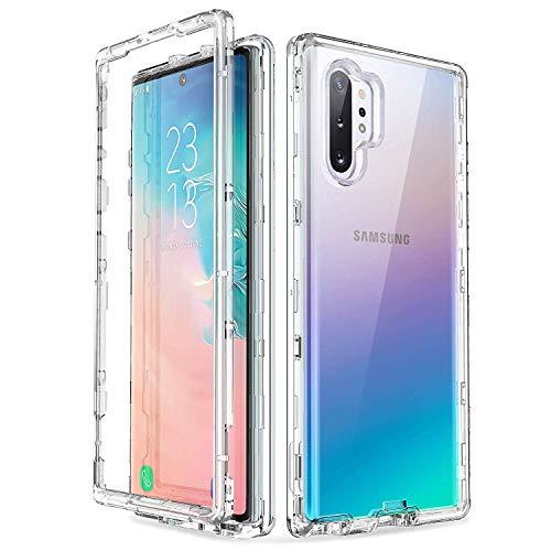 ULAK Coque pour Samsung Galaxy Note 10 Plus, Transparente Mince Étui Housse 3 en 1 Souple TPU et Rigid PC Protection Antichoc pour Samsung Galaxy Note 10 Plus/10+/5G(2019), Transparente
