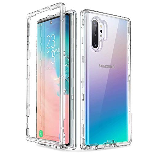 ULAK Samsung Galaxy Note 10+ 5G Hülle, Stylische Transparent Schutzhülle 3 in 1 Soft TPU Stoßfest Schutzhülle Durchsichtig Bumper Case Cover für Samsung Galaxy Note 10+/Note 10 Plus 5G - Klar