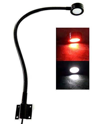 船用12v Led白/红灯,20英寸鹅颈臂,可调光灯,船用,房车,大篷车用灵活读数海图灯