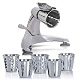 Royal Giant Heavy Duty Vegetable Chopper, Dynamic Food Processor with Stainless-Steel Shredders