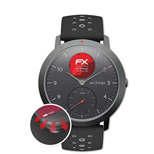 atFoliX Schutzfolie kompatibel mit Withings Steel HR Sport 40mm Folie, entspiegelnde & Flexible FX Bildschirmschutzfolie (3X)