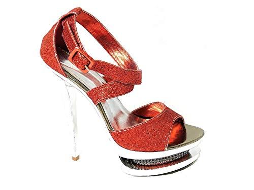 Zapatos de tacón alto para mujer, para novia, boda, graduación, fiesta, talla,...