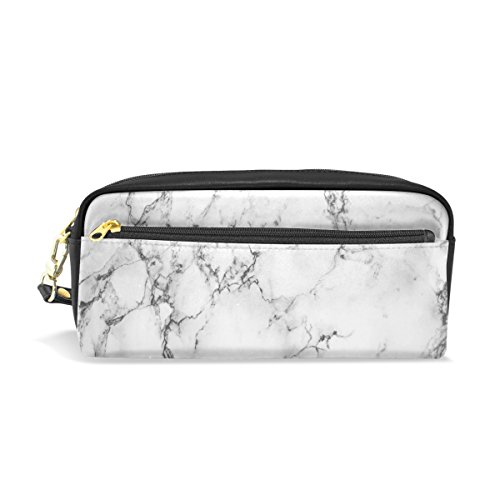 WOZO Hipster Marble Stone Pen Pencil Case Makeup Cosmetic Pouch Case Travel Bag