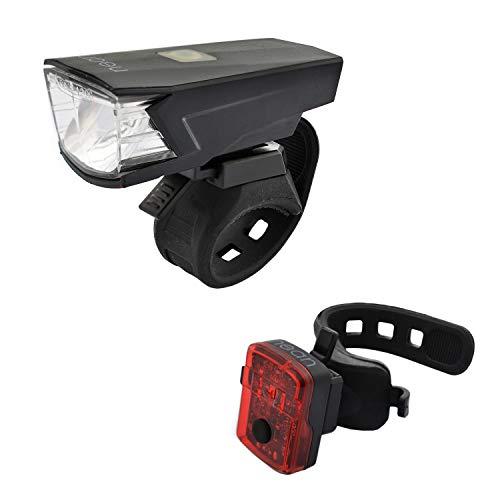 nean Fahrrad Beleuchtungsset mit Akku und StVZO-Zulassung 30 LUX 5 Candela