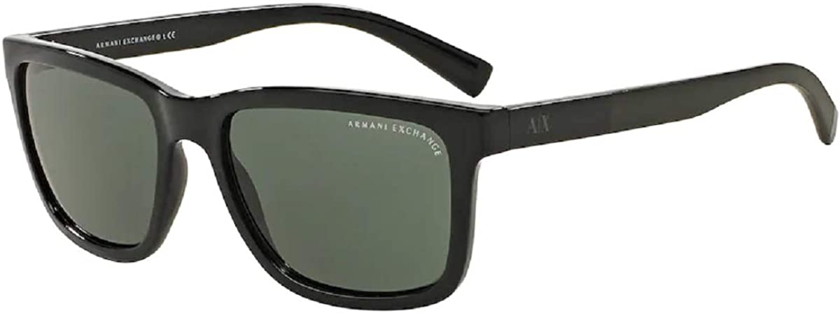 Armani Exchange AX4045S Rectangle Sunglasses For Men+FREE Complimentary Eyewear Care Kit