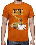 latostadora - Camiseta Chocolate con Churros para Hombre Naranja S