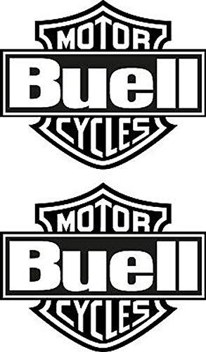 myrockshirt Motorradaufkleber 2X Buell Motor Cycles ca.15cm Aufkleber Sticker Decal Profi-Qualität ohne Hintergrund Bike Tuning