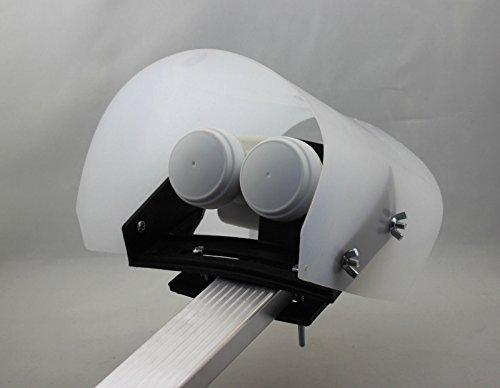 Hochwertige Wetterschutzhaube Satiniert für LNB bei Regen, Schnee, Hagel und EIS Protector Regenschutz 3D 4K HDTV Digital Analog