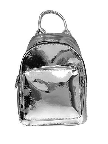 Urban Classics Mini Metallic Backpack Rucksack, 24 cm, 2, 5 L, Silver
