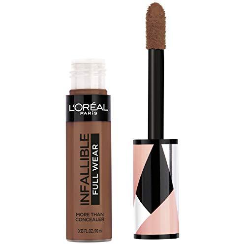 L'Oréal Paris Makeup Infallible Full Wear Concealer, Full Coverage, EXTRA LARGE Applicator, Waterproof, Multi-Use Concealer to Shape, Cover, Contour & Sculpt, Matte Finish, Coffee, 0.33 fl. oz.