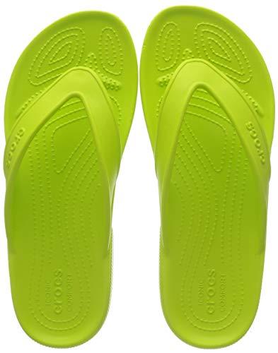 Crocs Classic II Flip, Chanclas Unisex Adulto, Ponche De Lima, 34 EU-35