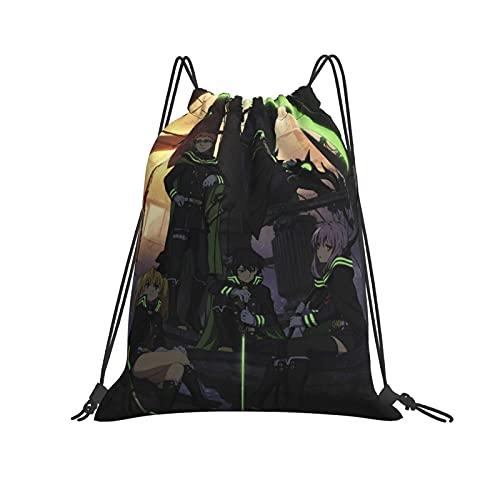 Ser-aph of the End - Mochila con cordón, mochila a granel, bolsa de cincha, bolsa de deporte, para escuela, gimnasio, viajes, etc