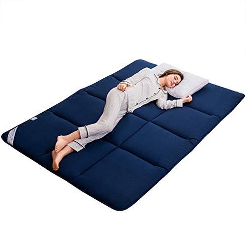 FSYGZJ Matelas Pliable IKEA Adulte Thicken Tatami Respirante Confort Portable Matelas futon invité Tapis de Sol Pliable Double Matelas pour la Maison Camping,Bleu,120 * 200cm