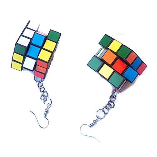 Handmade 80s Cube Puzzle Earrings for Women, Girls.