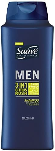 Suave Men 3 in 1 Shampoo Conditioner and Body Wash Citrus Rush 28 oz Pack of 3 product image