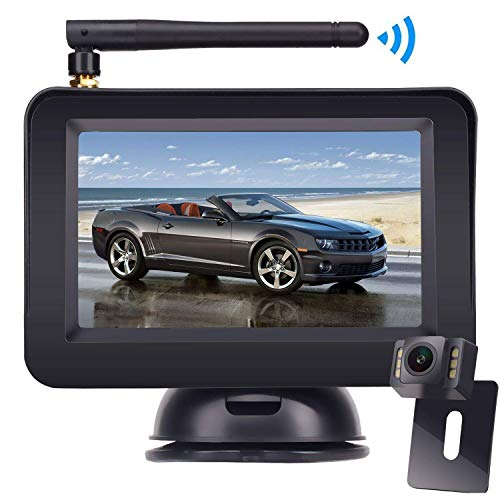 Wireless Reversing Camera, DOUXURY 4.3'' LCD Rear View Monitor + 170° Wide...