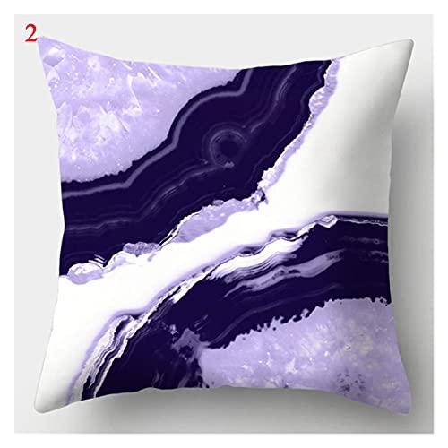 Cubiertas de Almohada geométrica púrpura Cubierta de cojín Decorativo Funda de Almohada para el hogar Sofadecoration Pillowcases Cuadrados (Color : 2)