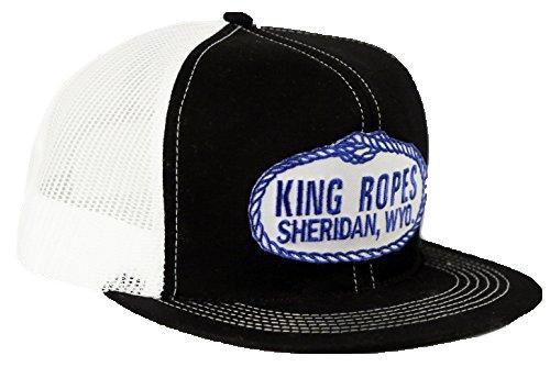 Kings Saddlery Brand King Ropes Snapback Adjustable Black with White Mesh Hat