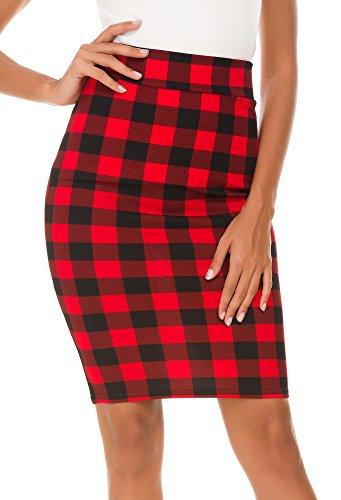 Mujer Moda Cintura alta Falda de Lápiz (L, #5)