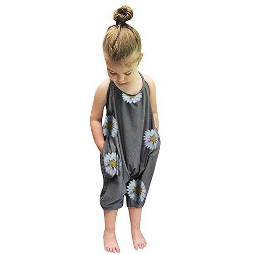 ESAILQ Kleinkind Baby Mädchen Ärmellose Sommer Strampler Jumpsuit Spielanzug Kleidung