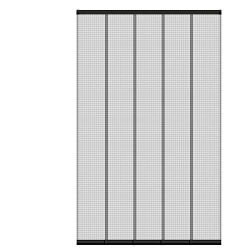 ECD Germany Insektenschutz Lamellenvorhang Türvorhang für Türen - 125x240 cm - individuell kürzbar - 5-teiliger Vorhang - mit randverstärkten Fiberglas-Lamellen - Fliegengitter Insektenschutz Vorhang