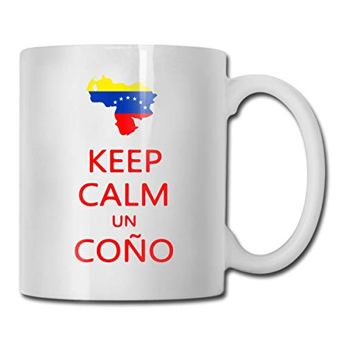 YHJUI Keep Calm Un Cono SOS Venezuela La mejor idea de regalo, divertida taza de café blanco de cerámica Novedad taza de té