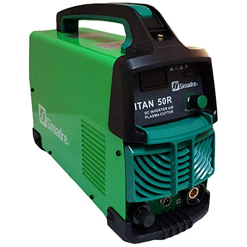 Simadre Titan 50r Dual Voltage 110/220v 50 Amp Plasma Cutter with Power Torch 1/2 Inch Clean Cut