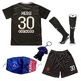 DMDMK Paris Messi #30 2021/2022 Third Trikot Shorts und Socken Kinder und Jugend Größe (Third, 22 (5-6 Jahre))