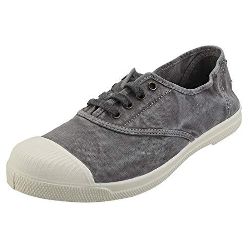 Natural World - Zapatillas de tela natural y caucho, ref. 47