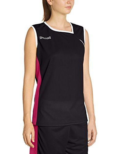 Spalding 4her Ii Tank Top, Camiseta Mujer, Multicolor (Schwarz/Pink/Weiß), M