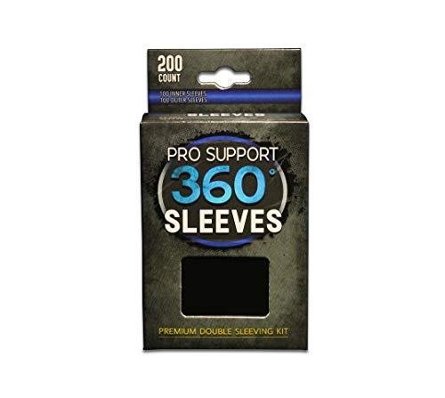 Pro Support 360 Sleeves - King of Double Sleeves. Comes with 100 Premium Outer Sleeves and 100 innner Sleeves. fits Standard Size Trading Cards Magic The Gathering, Pokemon, Dragon Ball Super, etc.