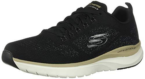 Skechers Ultra Groove, Zapatillas Hombre, Azul (Black Flat Knit/Trim Black), 42 EU