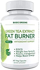 𝐆𝐑𝐄𝐄𝐍 𝐓𝐄𝐀 𝐄𝐗𝐓𝐑𝐀𝐂𝐓 SUPPLEMENT FOR THE ULTIMATE WEIGHT LOSS: Shed off those extra calories & be ready to flaunt that beach-ready body of yours with the BASIC GREENS Green Tea Extract Fat Burner capsules. With an advanced formulation for weight loss for...