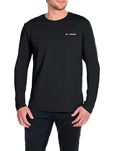VAUDE Herren T-shirt Brand Long Sleeve Shirt, Black, L, 064540105400