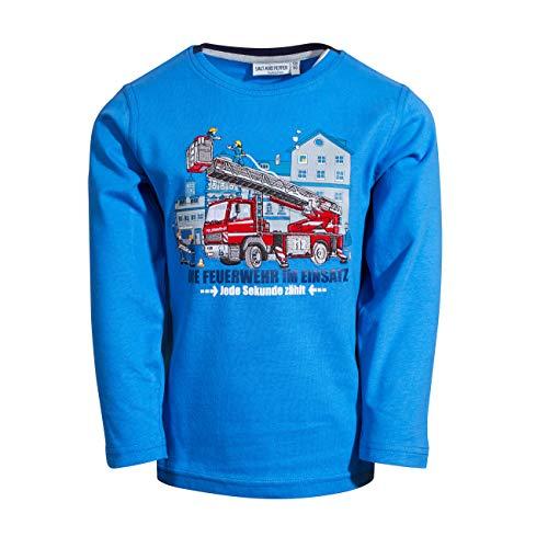 SALT AND PEPPER Jungen Longsleeve Rescue Uni Stick Hemd, Cobalt Blue, 128-134