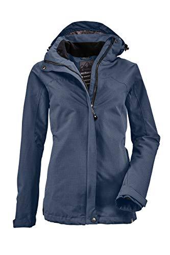 killtec Funktionsjacke Damen Inkele - Damenjacke mit abzippbarer Kapuze - leichte Übergangsjacke - Frauen Outdoorjacke ist wasserdicht und atmungsaktiv, dunkelnavy, 42
