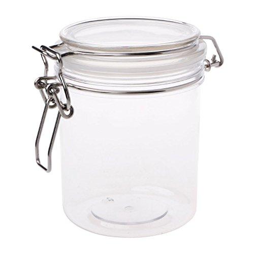 holilest Caja de Almacenamiento, PETP Almacenamiento de Alimentos Leche Rosa Caja Abrazadera Tapa Tarro de Cierre hermético Sellado Kitchen-550