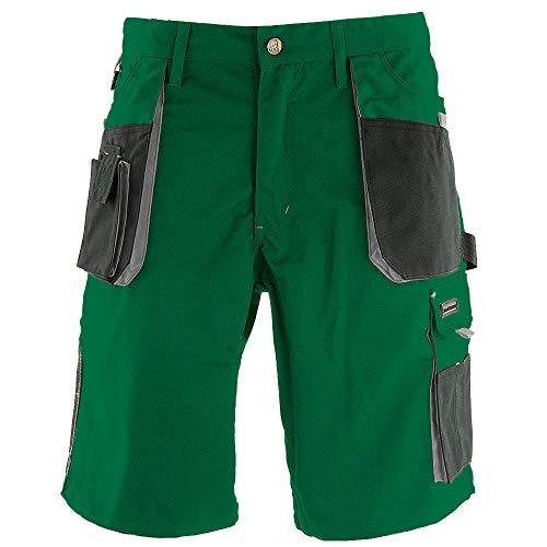 REIS, Pantalon de Travail Court pour Hommes, 270g/m², 65% Polyester 35% Coton, Gris-Vert, Taille: XL