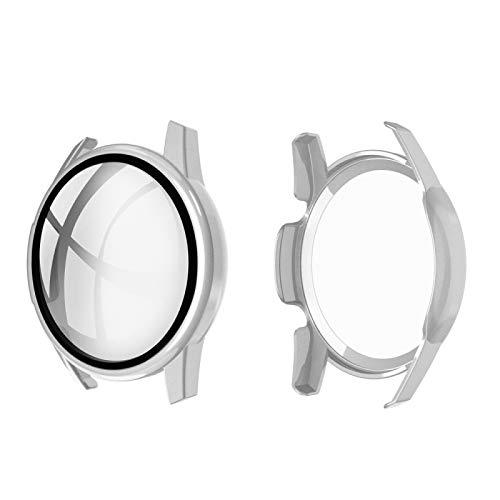 LVDHFUIASDFEFEE Carcasa para reloj Huawei Watch GT2 de 46 mm, carcasa de policarbonato con inyección de aceite + película de cristal templado 9H (color: color1)