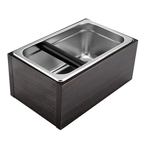 Koffieklopbox, roestvrij staal, koffie, klopbox, met handgreep, professionele afvalcontainer voor thuis, koffie, kantoor, enz.