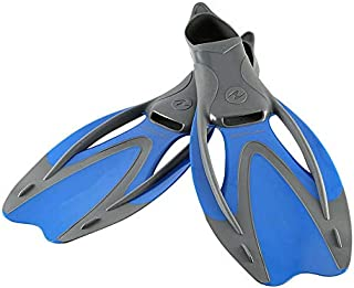 MRT SUPPLY Proflex Fx Size Small Diving and Swimming Fins, Blue/Gray with Ebook