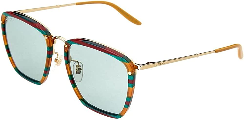 Gucci occhiali da sole per uomo amber havana/blue GG0673S