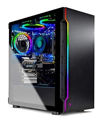 Skytech Shadow 3.0 Gaming PC Desktop - AMD Ryzen 7 2700X 3.7GHz, GTX 1660 6GB, 16GB DDR4 3000, 500G SSD, B450 Motherboard, 500W PSU, AC WiFi, Windows 10 Home 64-bit