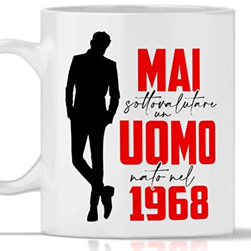 Tazza 1968 compleanno Uomo 53 anni. Idea regalo: Mai sottovalutare un uomo nato nel 1968